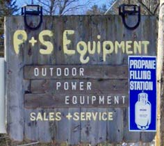 P&S Equipment sign at 1091 Meadow St. Littleton